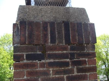 NortheastChimneySweeps.com Unlined Flue Woburn Ma Flue Liners Caps Pointing Repairs Needs pointing
